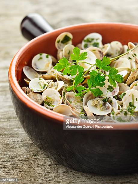 Small Clams Cooked in Marinara Style