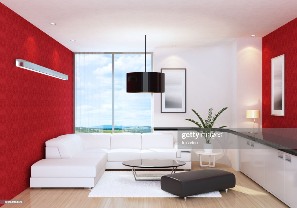 kleine cool apartment stock foto getty images. Black Bedroom Furniture Sets. Home Design Ideas