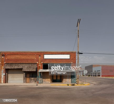 Small Country Town Street Scene : Stock Photo