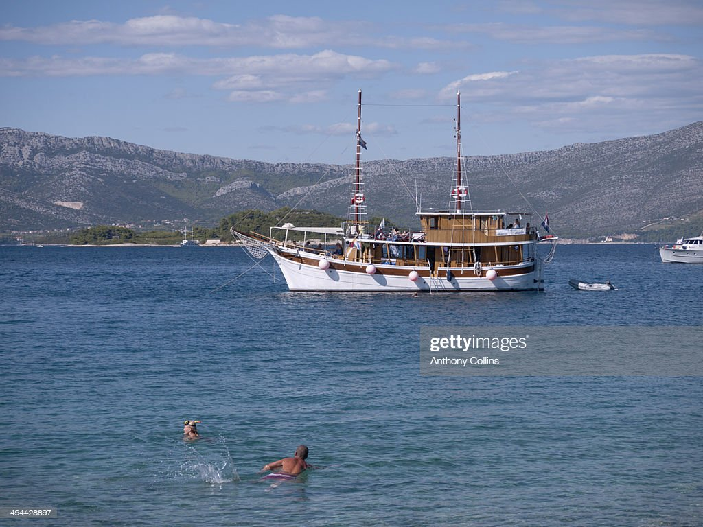 Small Cruise Boat Croatia Stock Photo  Getty Images
