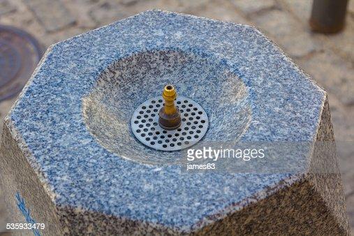 small drinking fountain on it : Stock Photo