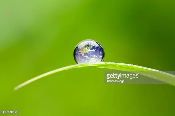 Small Earth North America. Nature Water Environment Green Drop World