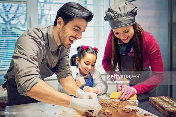 Small family business for chocolate production