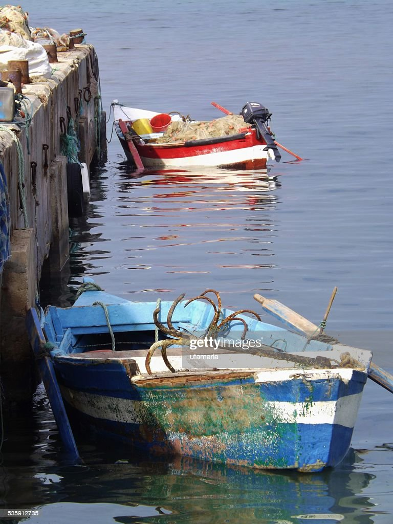 Small fishing boats. : Stock Photo