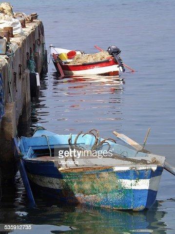 Pequenos barcos de pesca. : Foto de stock