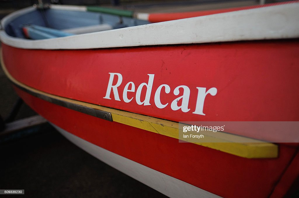 A small fishing coble is parked on the seafront on February 10, 2016 in Redcar, England. The inshore fishing fleet at Redcar originated in the early 14th Century with crab, lobster and fishing bringing in much needed income to local fishermen. As the fishing industry has steadily declined so to the fleet has reduced in size so that today only a small number of boats still put to sea from the town to continue the fishing heritage on the east coast of England.