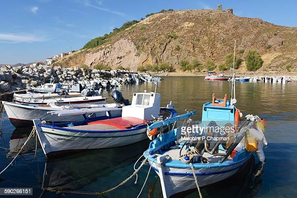Small fishing harbour, Eressos, Lesvos, Greece