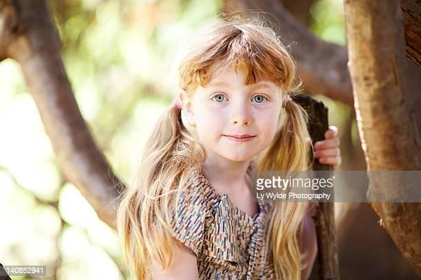 Small girl looking at camera