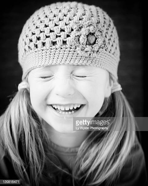 Small girl smiling