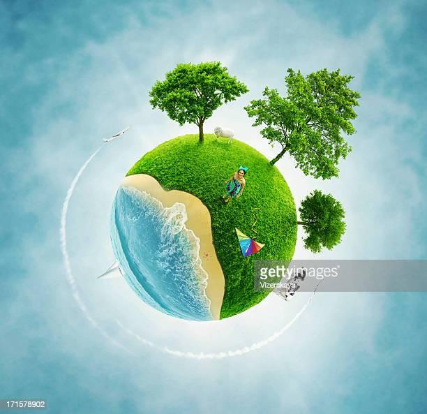 小さなグリーンの地球