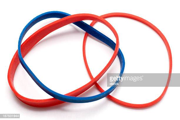 small group of colorful rubber bands