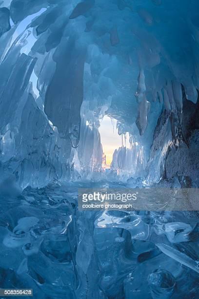 Small ice cave at Baikal lake