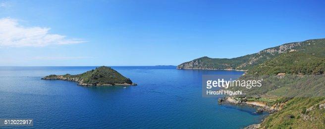 Small island in open sea