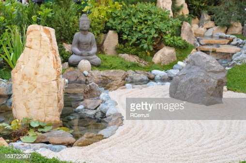 Small japanese garden : Stock Photo