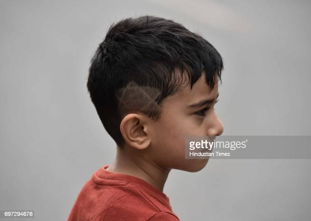 A small kid participates on the Raahgiri Day at Sushant Lok near Galleria Market organized by MCG on June 18 2017 in Gurugram India The day is a...