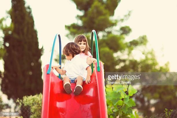 Small kids playing
