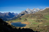 Small lake in the Alps