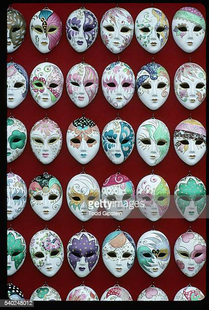 Small Masks Hanging on Wall
