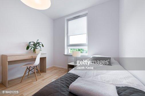 Small modern sleeping room interior design stock photo for Sleeping room design