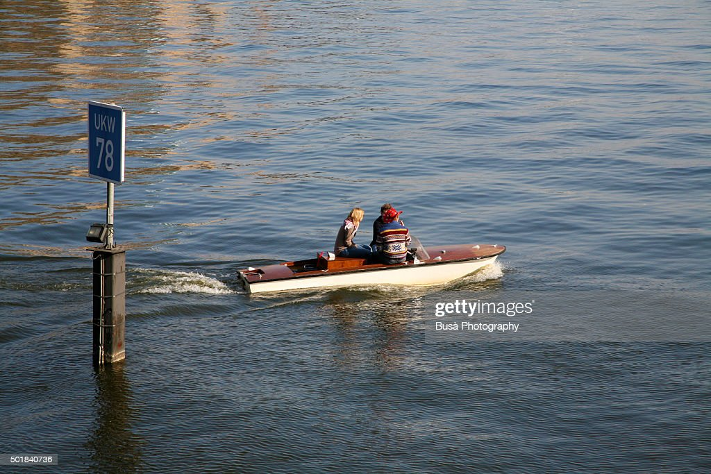Man In Small Motorboat Stock Photos - Image: 2681193