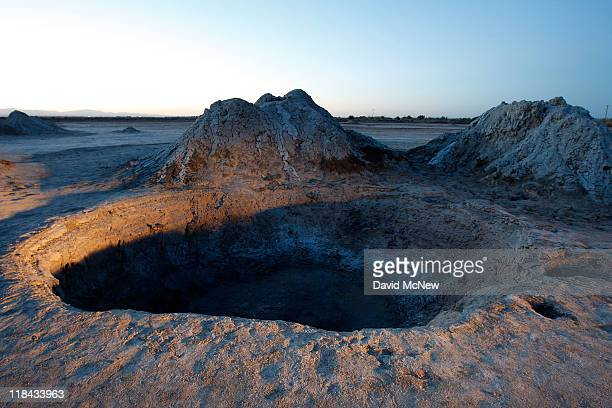 Small mud volcanoes grow above the southern San Andreas Fault near the Salton Sea on June 30 near Calipatria California Scientists have discovered...