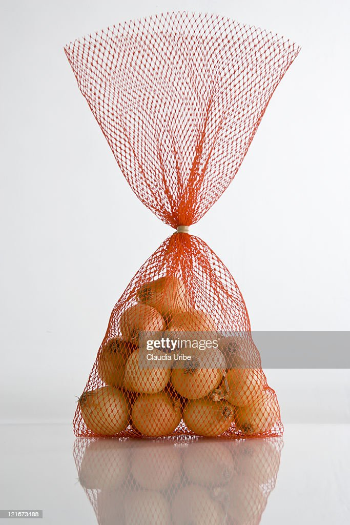 Small Onions in a Net Bag