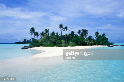 Small palm covered Tropical Island, Seychelles : Photo