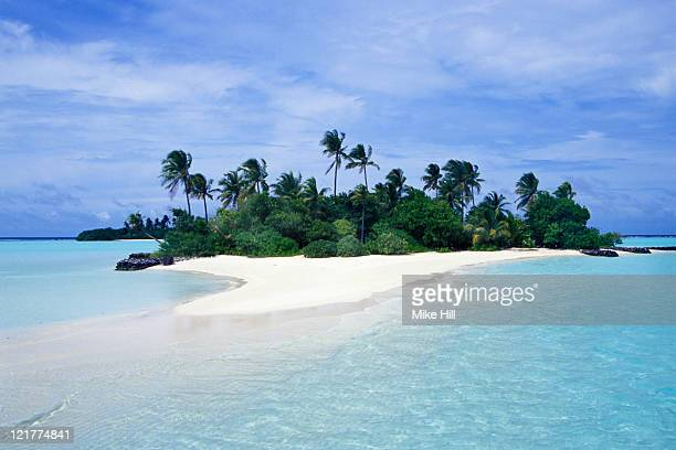 Small palm covered Tropical Island, Seychelles