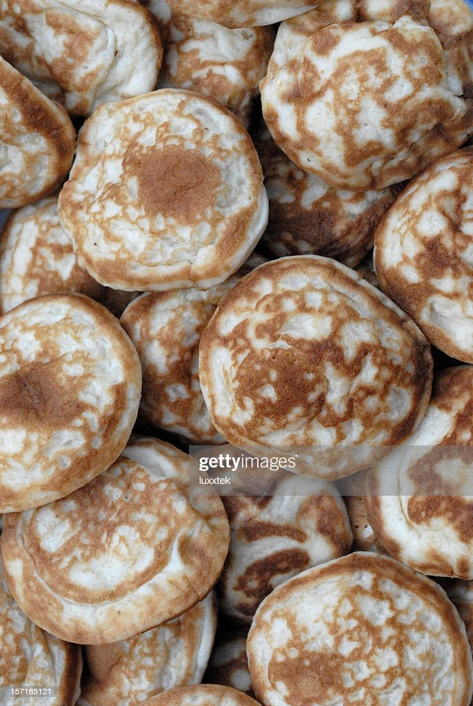 Small pancakes : Stock Photo