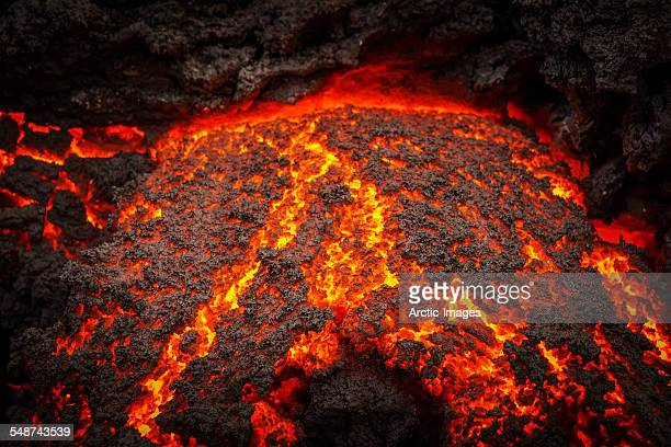 Small part of Lava flowing, Holuhraun, Iceland