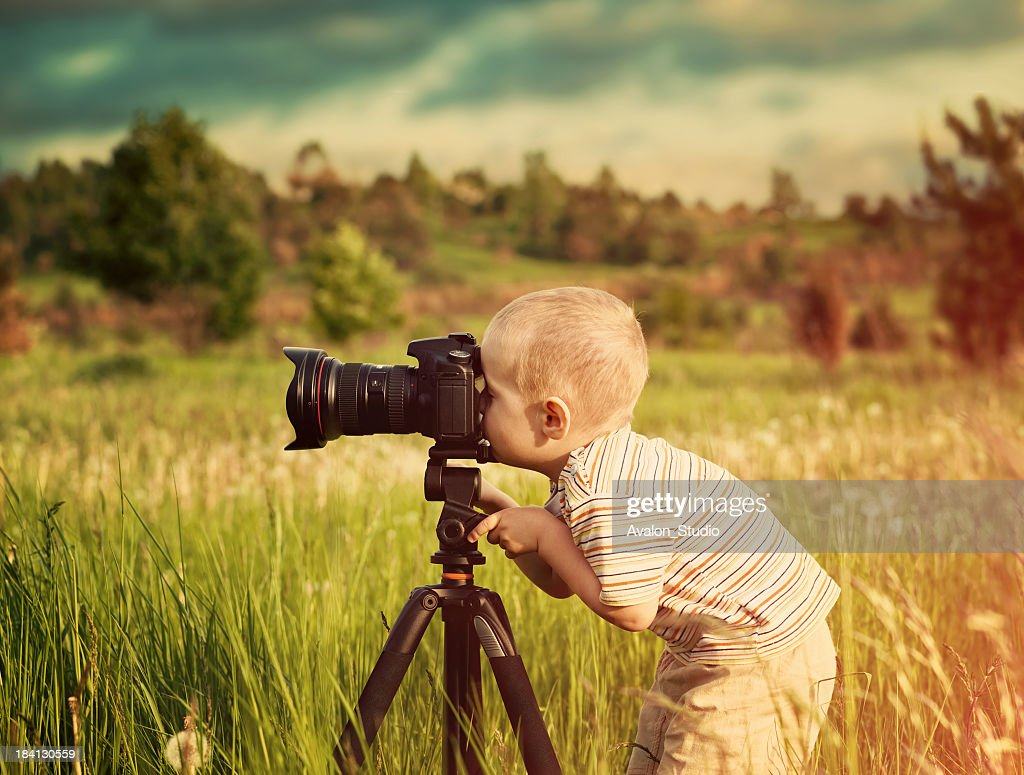 Small Photographer : Stock Photo