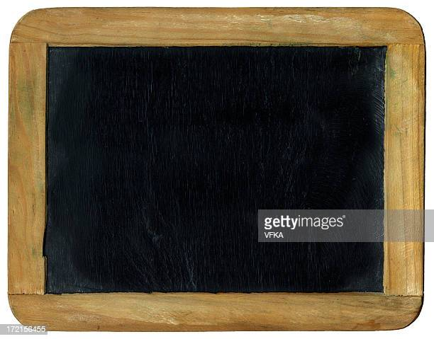 Small plain black chalkboard with wooden border