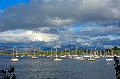 Small port near Oban Argyll Butte Highlands Scotland UK