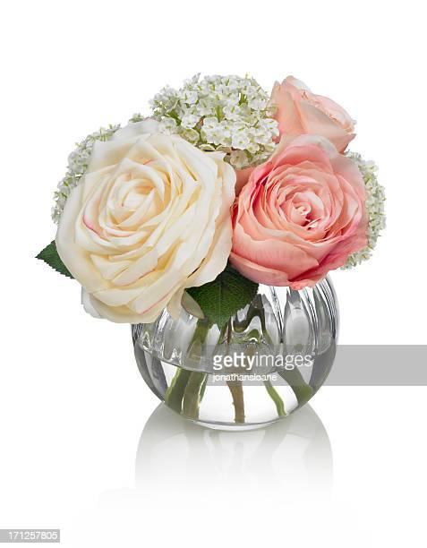 Kleine Rose bouquet auf weißem Hintergrund