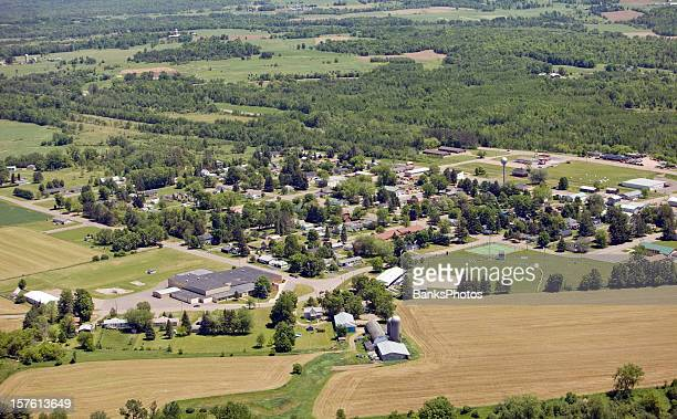 Small Rural Community Aerial View