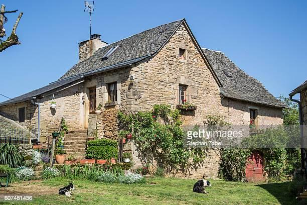 small rural farmhouse with garden