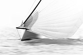 small sailboat with spinnaker