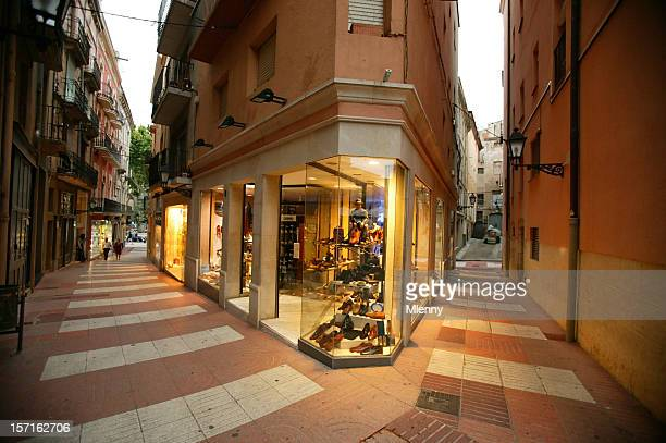 Small Shopping Street Figueras Spain Europe