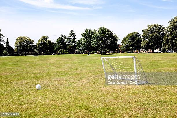 Small Soccer Goal On Meadow