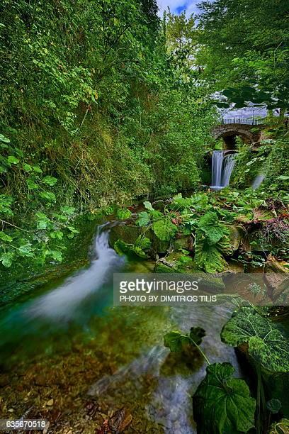 Small stone bridge & waterfalls 2
