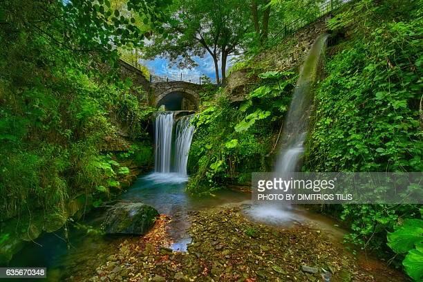 Small stone bridge & waterfalls