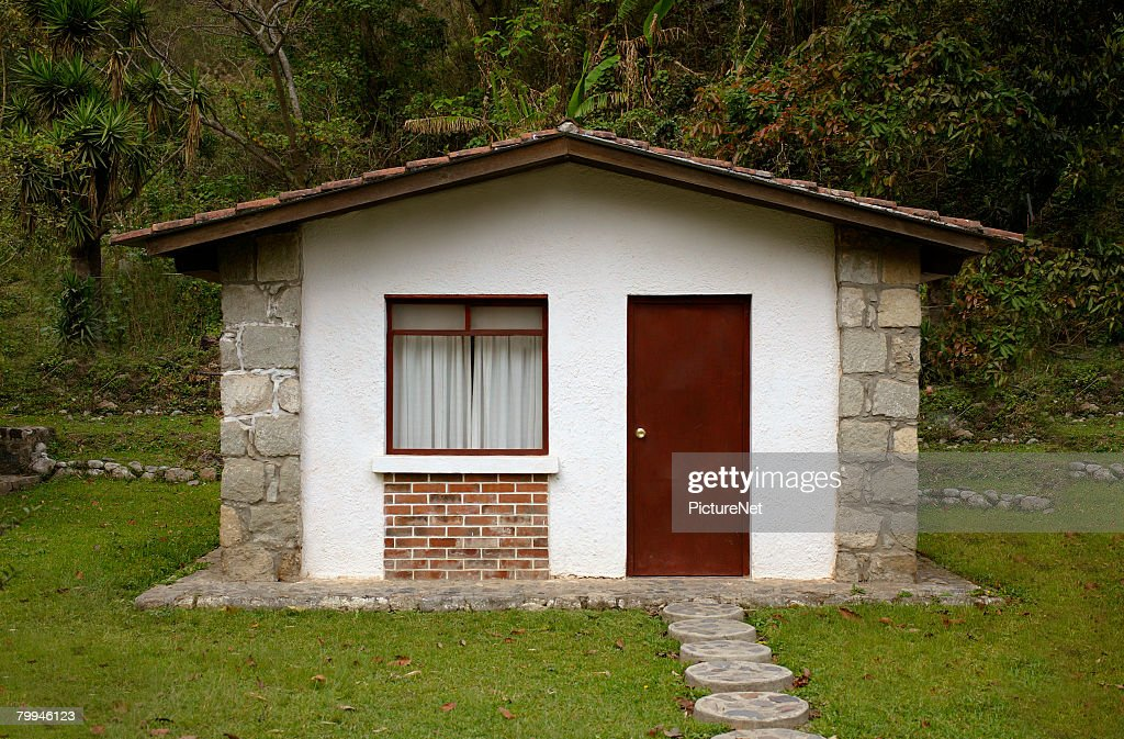 Small stone cottage stock photo getty images for Small stone cottage