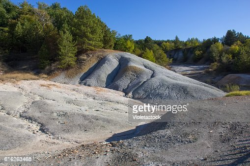 Small sulfur volcano Kosel, Ohrid lake, FYRM, Macedonia : Stock Photo