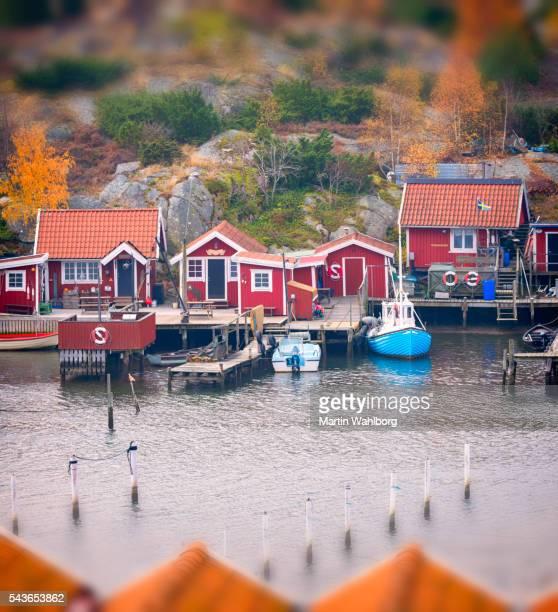 Small Swedish fishing village