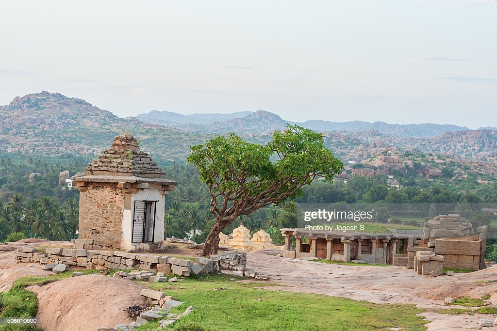 A small temple in Hemakuta hill : Stock Photo