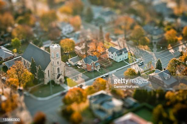 Small town and church