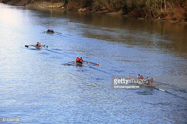 Small Town Rowing Regatta Along The Riverbank Fort Langley BC