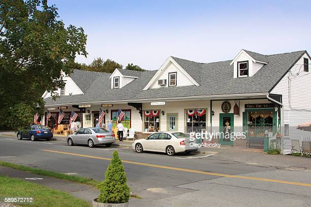Small Town Street in Sandwich, Cape Cod, Massachusetts.