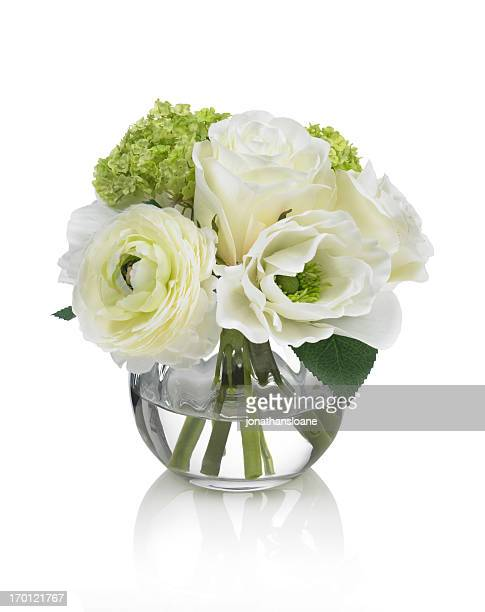 Small white Spring bouquet on a white background