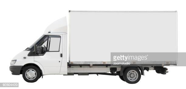 Delivery truck isolated on white background clipping paths included - White Delivery Truck Stock Photos And Pictures Getty Images